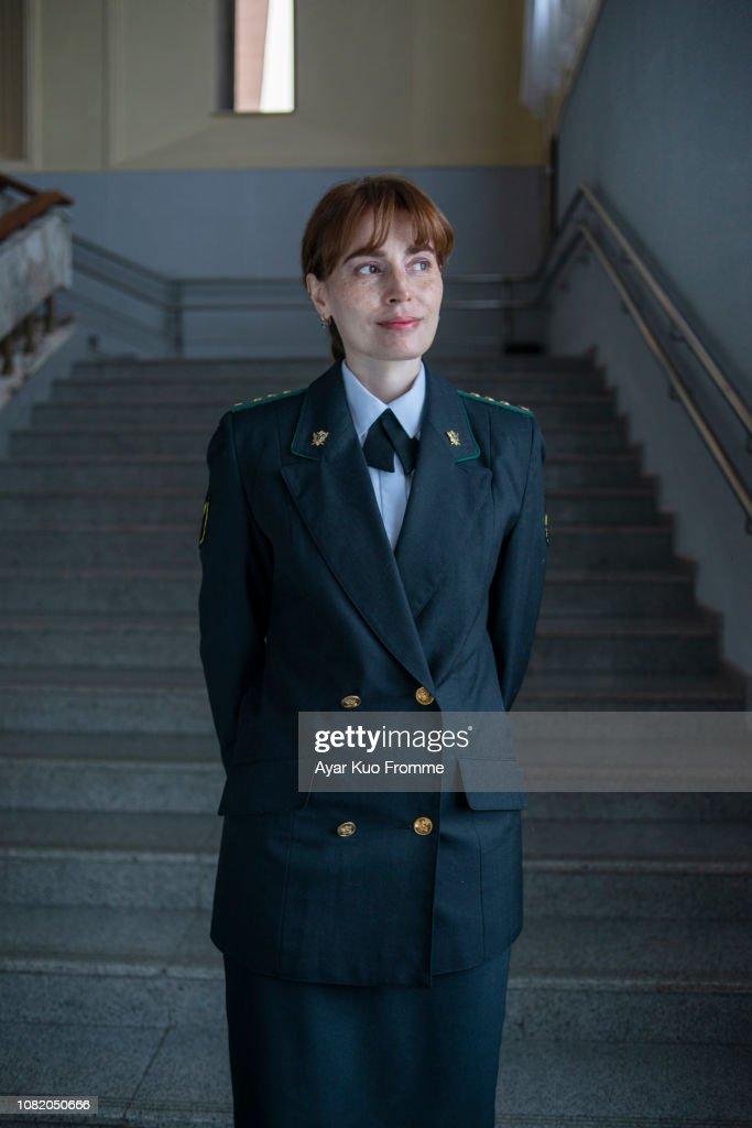 woman in uniform : Stock Photo