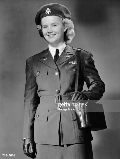 1950s: Woman in uniform.