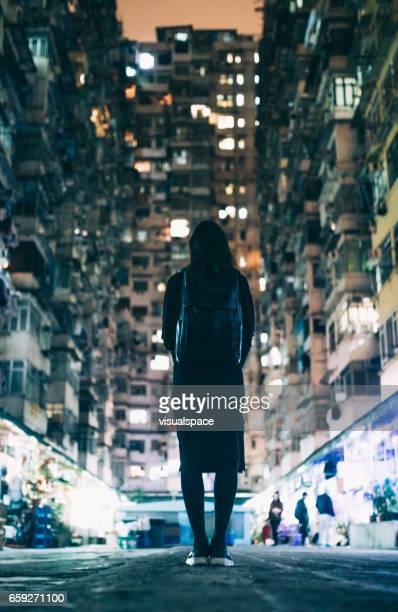Woman in Urban Environment