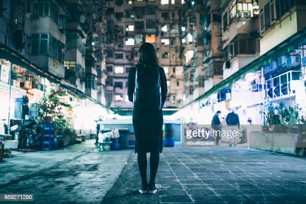 Woman in Urban Environment