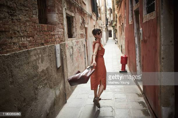 woman in venice - travel destinations stock pictures, royalty-free photos & images