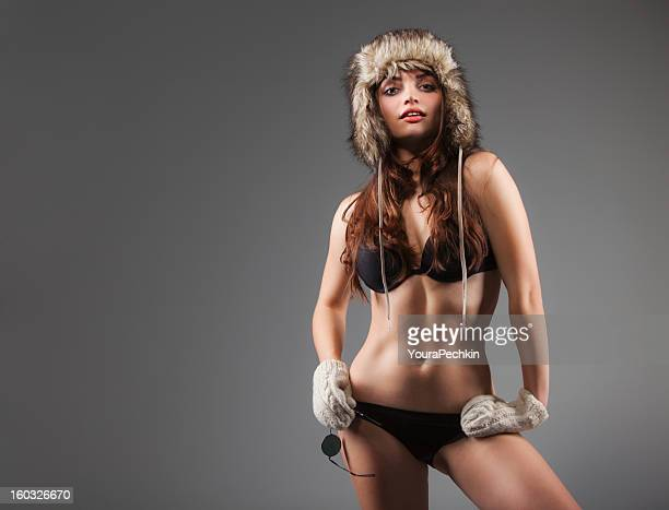 Woman in warm clothes