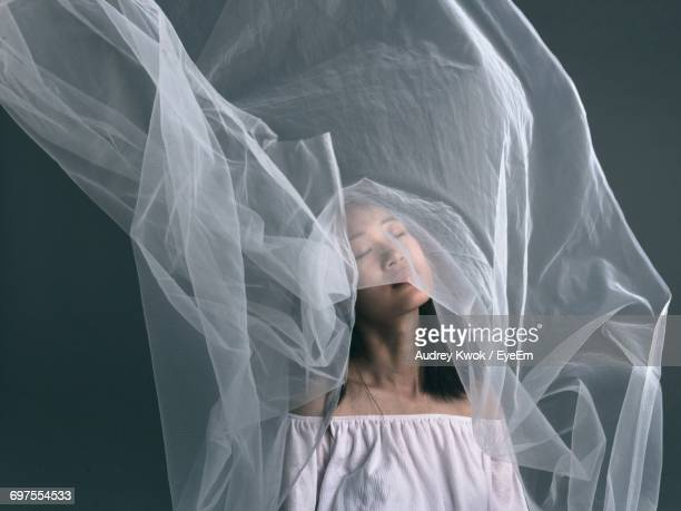 woman in white veil - veil stock pictures, royalty-free photos & images
