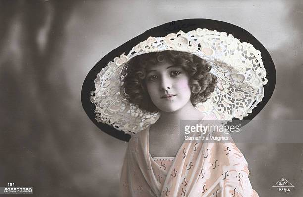 Woman in WideBrimmed Lace Hat