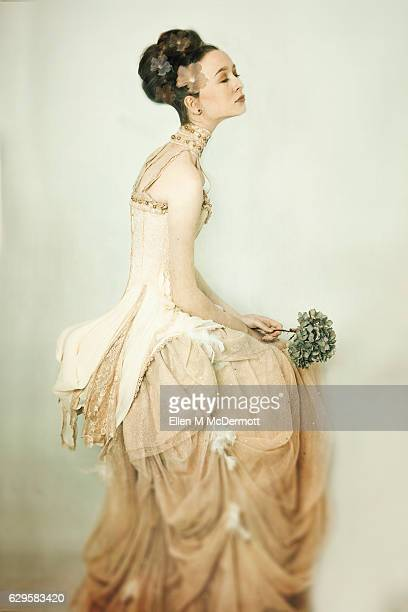 woman in yellow - elizabethan style stock photos and pictures