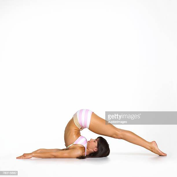 Woman in Yoga Plough Pose
