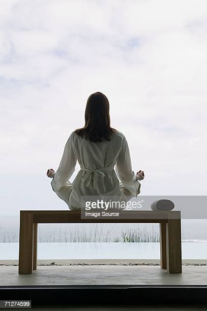 woman in yoga position - man made space stock pictures, royalty-free photos & images
