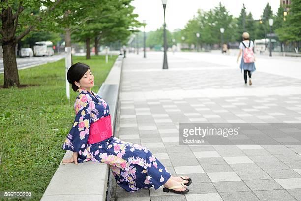 Woman in yukata
