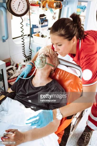 woman inside the ambulance