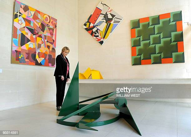A woman inspects an exhibition titled Cubism Australian Art at the Heide Museum of Modern Art a major exhibition that for the first time examines the...