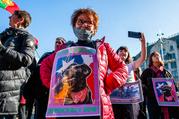 NLD: Demonstration On The Second Anniversary Of The Chilean Social Outbreak Organized In Amsterdam