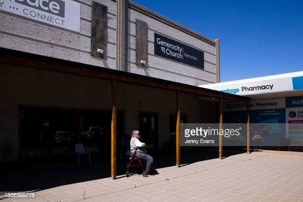 Woman is observed after receiving her COVID-19 vaccination at a Pharmacy on September 08, 2021 in Narromine, Australia. New freedoms have been...