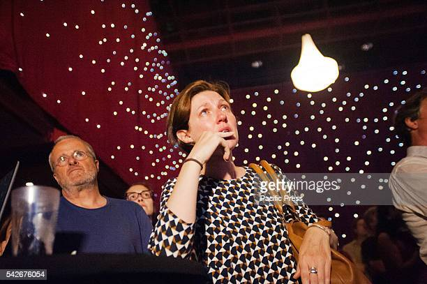 A woman is overwhelmed with emotion at the more in common Brussels celebrates Jo Cox event at the Ancienne Belgique in Brussels Jo cox is a Labor MP...