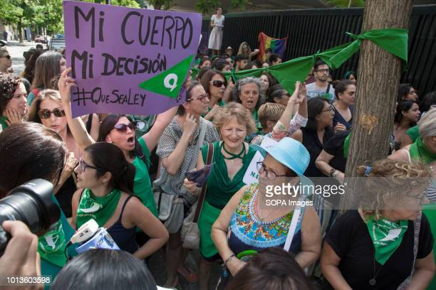 A woman is seen holding a poster during the demonstration The feminist movement has manifested itself in different cities of the world under the name...