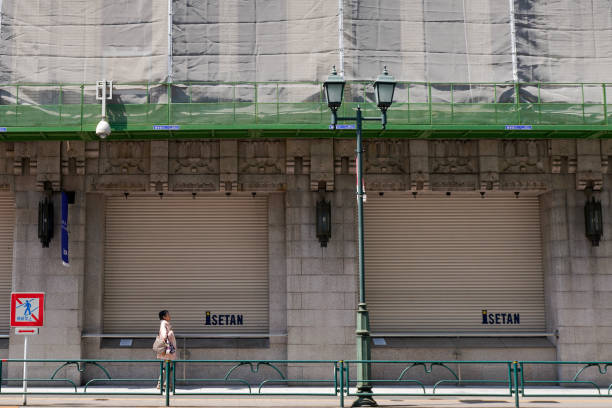 JPN: Tokyo Commercial Streets Quiet Down Under State Of Emergency
