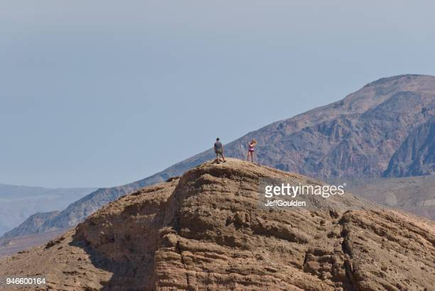 Hikers Taking a Picture at Zabriskie Point