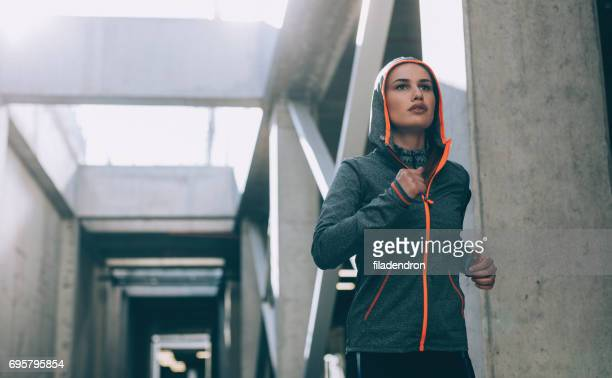 Woman jogging in the city