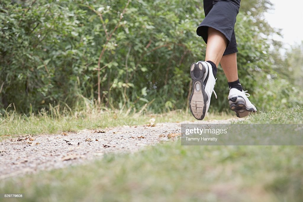 Woman jogging : Foto de stock