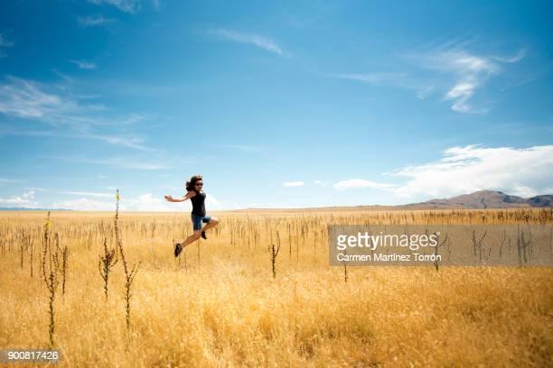 Woman Jumping. Salt Lake City, Utah.