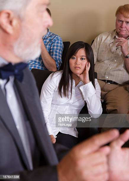 woman jury member - jury box stock pictures, royalty-free photos & images