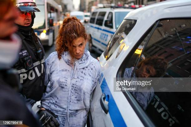Woman later identified as Kathleen Casillo, is arrested by the New York City Police Department during a U.S. Immigration and Customs Enforcement...