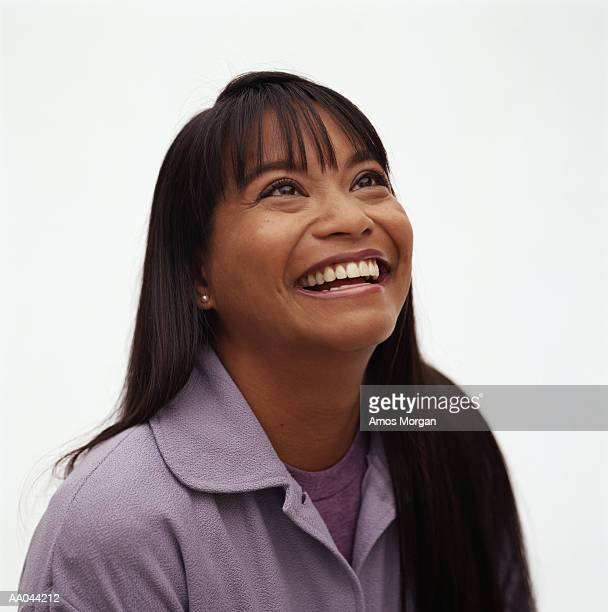 woman laughing - head back stock pictures, royalty-free photos & images