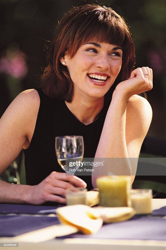 Woman laughing : Stock Photo