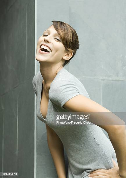Woman laughing, portrait
