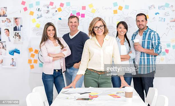 Woman leading a creative business group