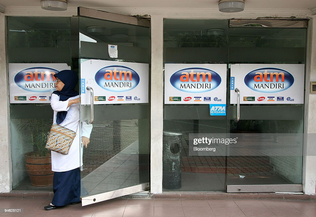 A Woman Leaves A Bank Mandiri Atm At A Shopping Center In Jakarta News Photo Getty Images