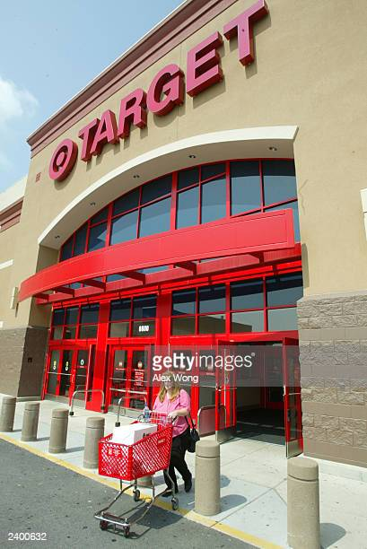 Woman leaves a Target store August 14, 2003 in Springfield, Virgina. Target Corp. Reported a four percent increase in second-quarter profits.