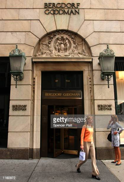 A woman leaves the luxury clothing store Bergdorf Goodman September 10 2001 in New York City