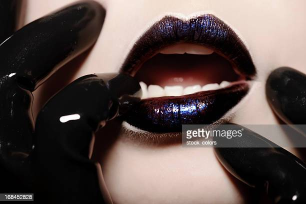 woman lips - latex stock photos and pictures