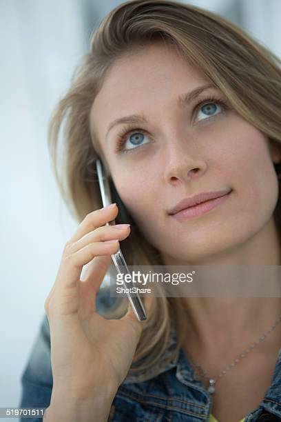 Woman listening on the phone