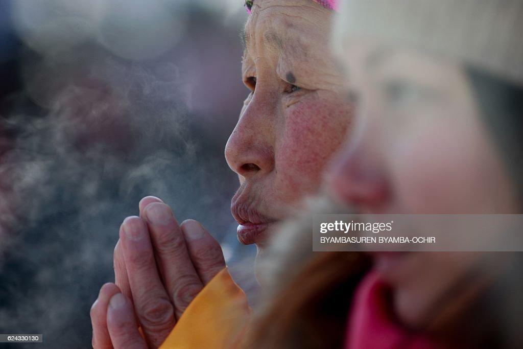 MONGOLIA-RELIGION-DIPLOMACY-POLITICS-CHINA : News Photo