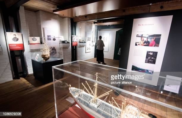 A woman looking around the Frauen an Bord exhibition at the Maritimes Museum in Hamburg Germany 17 March 2016 PHOTO DANIEL BOCKWOLDT/DPA | usage...