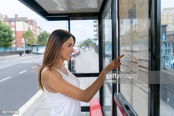 Woman looking at a city map