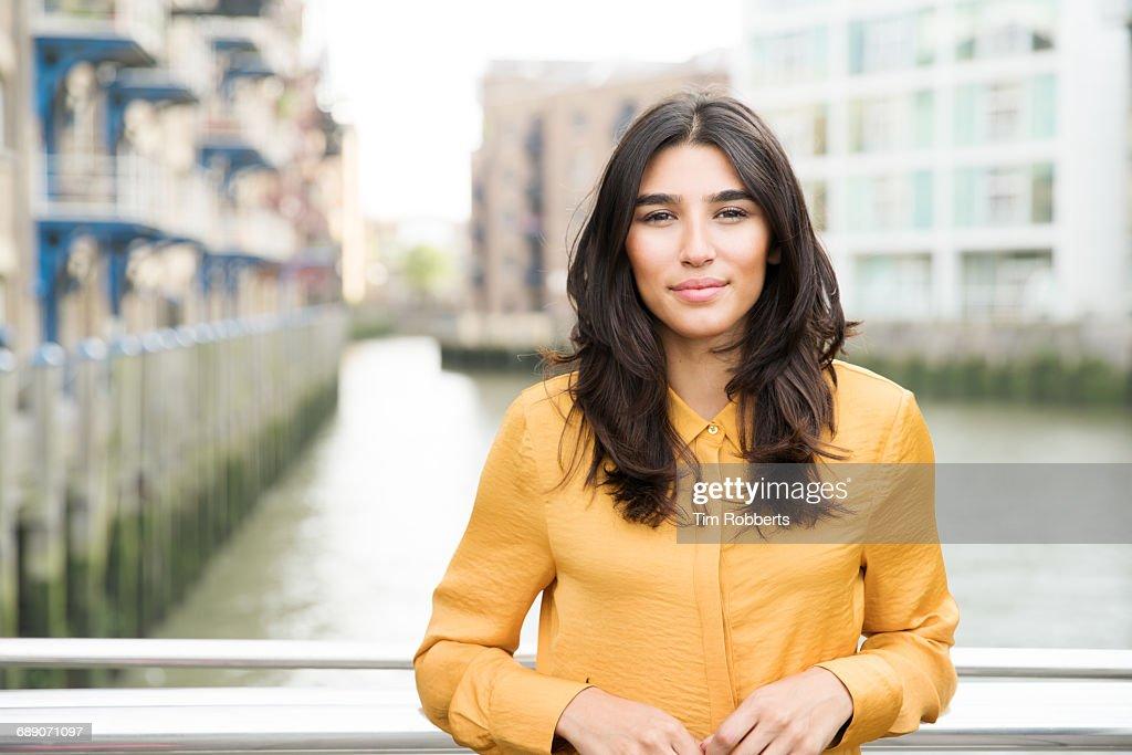 Woman looking at camera : Stock Photo