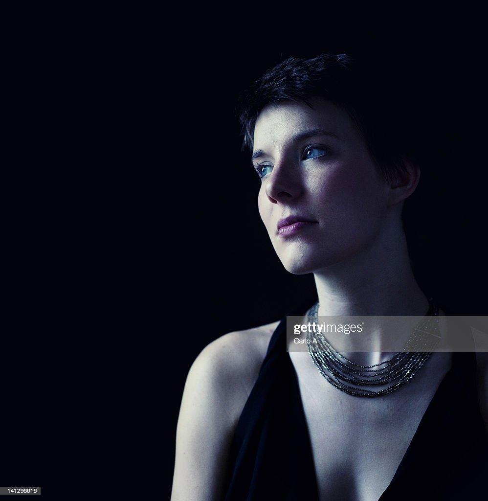 Woman looking away : Stock Photo