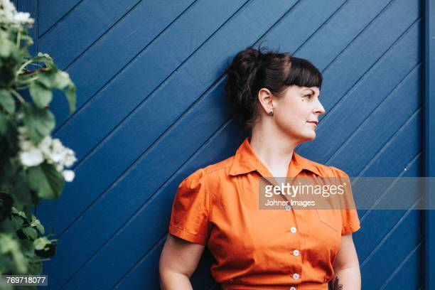woman looking away - bad bangs stock pictures, royalty-free photos & images
