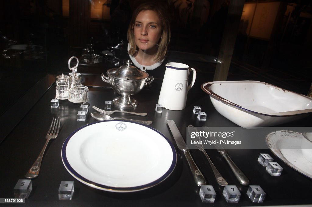 A woman looks at an exhibit of China Dinnerware which was used during the expedition  sc 1 st  Getty Images & 100th anniversary of the Terra Nova expedition Pictures | Getty Images