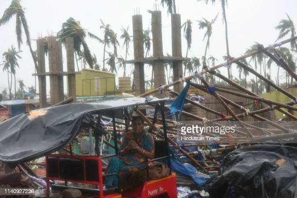 A woman looks devastated after the cyclone Fani on May 3 2019 in Puri India Cyclone Fani on Friday lashed Odisha triggering heavy rainfall...