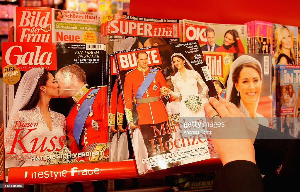 A woman looks for a latest magazine of the wedding of the Royal Highnesses Prince William, Duke of Cambridge and Catherine, Duchess of Cambridge at a news stand on May 2, 2011 in Berlin, Germany. The marriage of the second in line to the British throne was led by the Archbishop of Canterbury and was attended by 1900 guests, including foreign Royal family members and heads of state April 29.