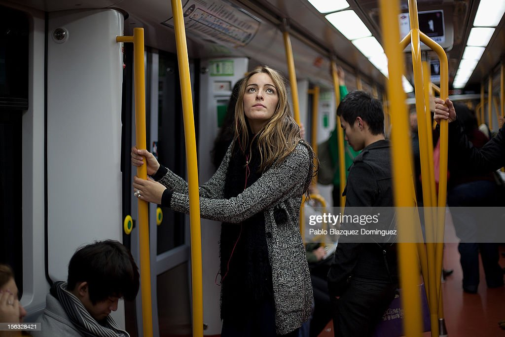 A woman looks on inside an underground train on November 13, 2012 in Madrid, Spain. Spain's trade unions have called a general strike for November 14, the second general strike during Mariano Rajoy's presidency. Protestors from social movements are expected to join striking public sector workers to protest against austerity cuts and labour reforms. Spain's unemployment rate has now reached 25 per cent.