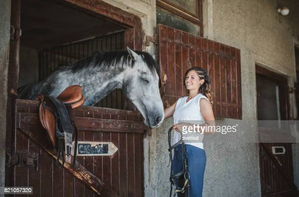 Woman love her horse