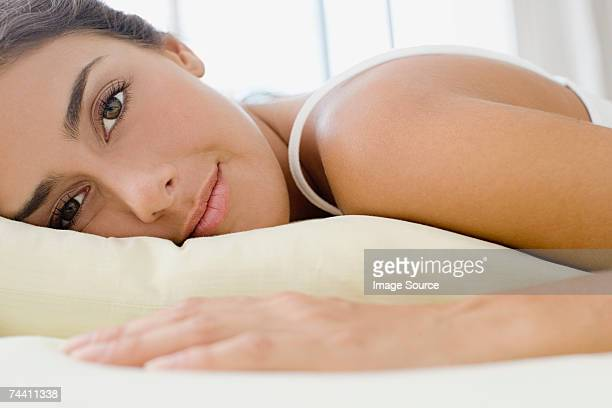 Woman lying on front