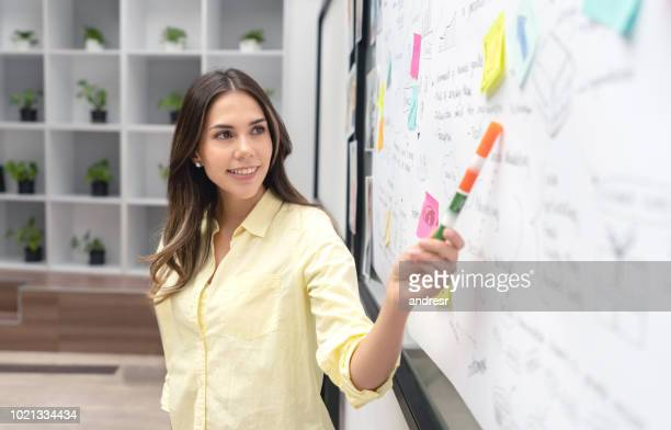 Woman making a business presentation at the office