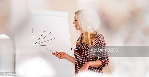 Femme faisant une présentation