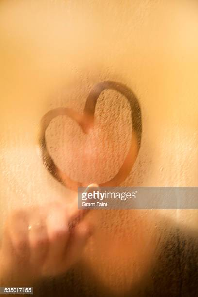 Woman making heart