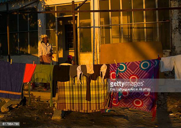 Woman making laundry, island of mozambique, Mozambique on July 16, 2013 in Island Of Mozambique, Mozambique.